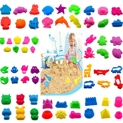 9 Patten Sand Play indoor Outdoor Game Creative Sand Mold Tool Set Kids Toy Gift
