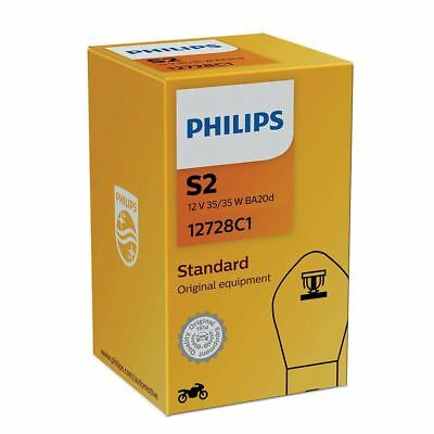 PHILIPS Vision Moto S2 Halogen 12V 35/35W BA20d More light Lamp 12728C1 1 bulb