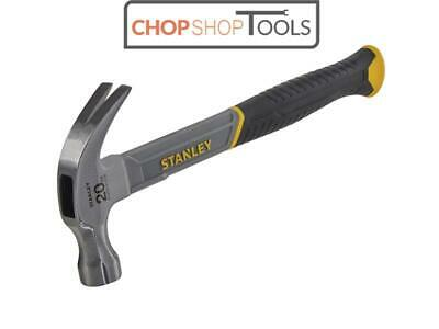 Stanley Curved Claw Hammer 20oz 570g FIBREGLASS HANDLE STA051310