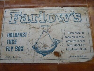 Vintage Farlows Tube Fly Box, Holdfast