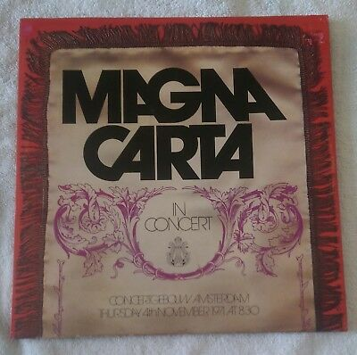 Magna Carta-In Concert 1972 UK 1st Issue 6360 068 VG+/VG
