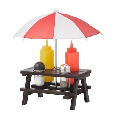 Giftworks - Picnic Table Condiment 4pc Set