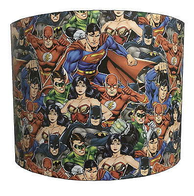 Super Heroes Lampshade Ideal To Match Super Heroes Duvets Super Heroes Wallpaper