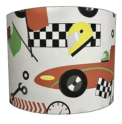 Lampshades Ideal To Match Racing Cars Duvet Covers, Transportation Wall Decals.