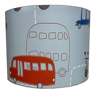 Transportation Red Bus Lampshades, Ideal To Match Red Bus Wallpaper Borders.