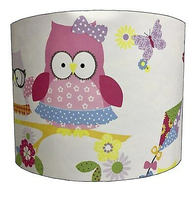Children`s Owl Lampshades Ideal To Match Owl Duvets & Owl Wall Decals & Stickers