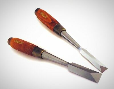 Narex Pair 1/2 And 3/4 Dovetail Japanese Style Chisels Clearance Into Corners