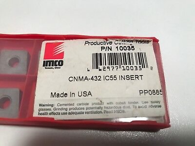 Imco CNMA 432 IC55 Insert - PACK OF 10 - Cutting Inserts   PP0885