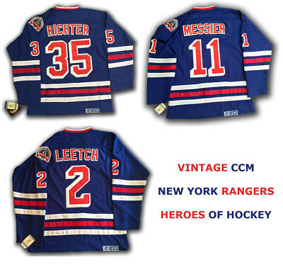 Mike Richter New York Rangers Jersey Vintage Throwback Size Large Home / Away