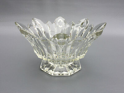 Antique clear crystal / glass bowl, ground & polished bottom 1900's