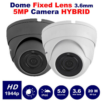 5MP CCTV Dome Camera HD HYBRID for 5MP Recorder 3.6mm lens 20M Night Vision UK