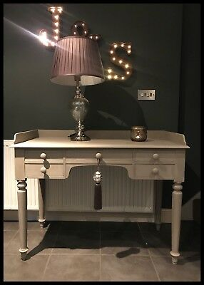 Annie Sloan Painted Antique Victorian Mahogany Desk/Washstand