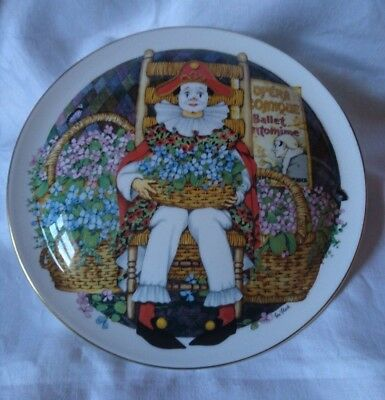 Royal Doulton Clown Plate Behind the painted Masque Ben Black 'Painted Feelings'
