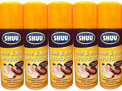 Shoe & Boot Deodorant Spray Neutralises Odour - For Shoes Boots & Trainers Shuu
