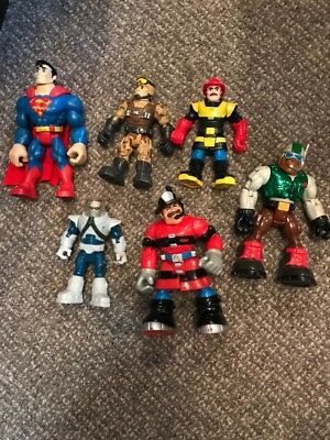 Rescue Heroes Lot (6) Mattel Price Action Figures Toys