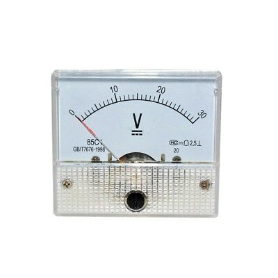 1PCS DC 30V Analog Panel Volt Voltage Meter Voltmeter Gauge 85C1 0-30V NEW