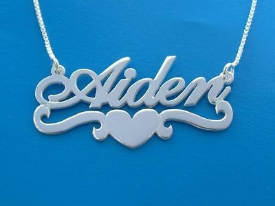 Heart Necklaces, love necklace, Order Any name! silver name necklace, nameplate