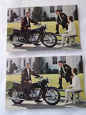 Vintage 2 BMW Motorcycle Postcards-Excellent Condition