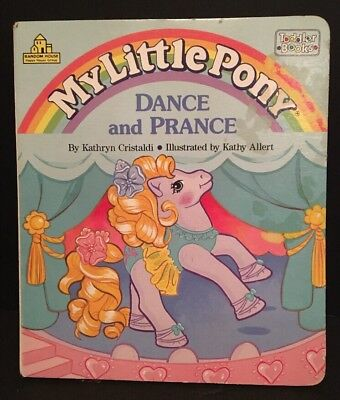"Vintage Retro 1991 Hasbro My Little Pony ""Dance & Prance"" Toddler Book"