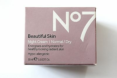 No7 Beautiful Skin Night Cream Normal/Dry Skin - 50ml - Hypo-Allergenic
