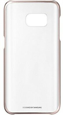Genuine Original Samsung Galaxy S7 Clear Rose Gold Protective Phone Case Cover