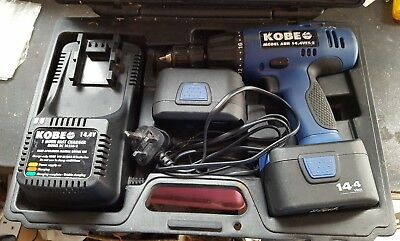 Kobe Red Line Oia0020630 Switch 14.4V Drill charger and 2 x batteries.