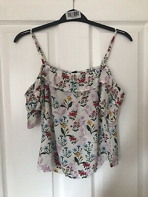 Girls New Look Cold Shoulder Top Size 13 Years Brand New With Tags