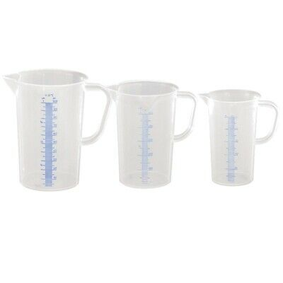Messbecher Set 1000 2000 3000ml Messkanne Maßbecher Kunststoff sterilisierbar