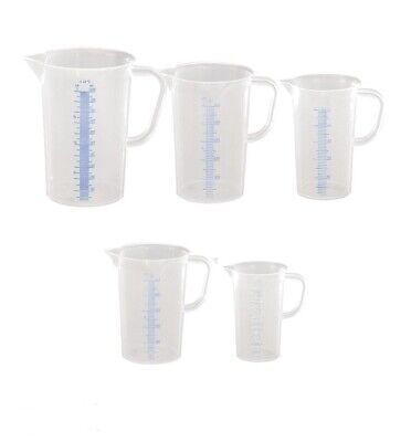 Messbecher Messkanne 5er Set Maßbecher Kunststoff sterilisierbar 250ml-3000ml