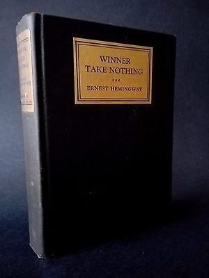 Winner Take Nothing by Ernest Hemingway First edition 1933 with  'A' and seal