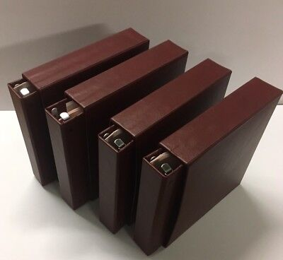 Stanley Gibbons Devon Albums X2 Burgundy  Leather With Matching Slipcases