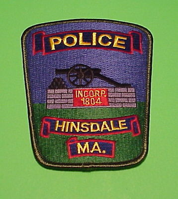 Hinsdale  Massachusetts  Ma   Incorp. 1804  ( Green Border )   Police Patch
