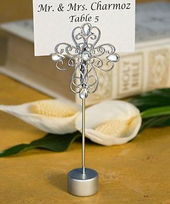 6 Cross Place Card Holder Baby Showers Christenings Confirmation Favors Gifts