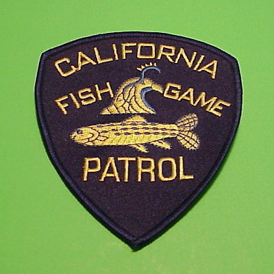 California   Ca  Fish & Game  Patrol  Police Patch   Free Shipping!!!!