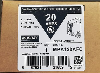 Murray MP120AFC 20-Amp 1 Pole 120-Volt Combination Type Arc Fault Circuit Interr