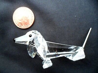 Beautiful & Cute Swarovski Crystal Daschund. Perfect Condition Guaranteed