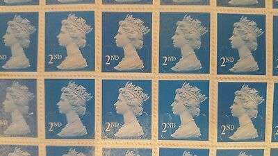 500 x 2ND CLASS SECURITY STAMPS UNFRANKED WITH GUM FACE VALUE £280 EASY PEEL