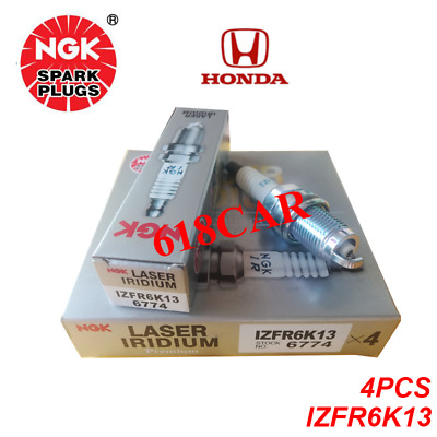 Set of 4 Spark Plugs-Laser Iridium NGK 6774  IZFR6K13  for Honda