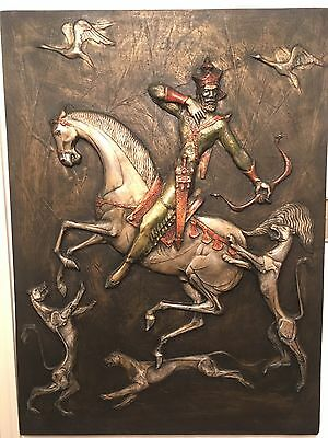 J Segura FIBERGLASS Wall 3D art Turkish Lion Islamic Ottoman Empire VTG mcm