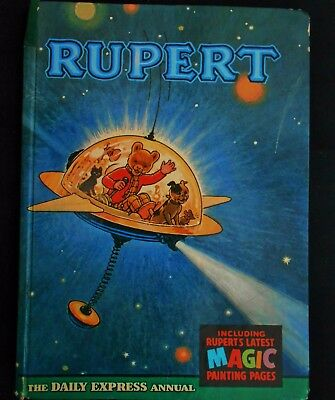 VINTAGE ORIGINAL 1966 RUPERT BEAR ANNUAL, UNSCRIBED & PRICE UNCLIPPED at 6/-