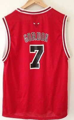 Authentic Reebok NBA Chicago Bulls Ben Gordon  7 Red Sewn Jersey XL Boys 18- da9d5f26a