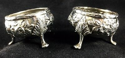 S. Kirk & Son Repousse Salt Cellars Sterling - Two