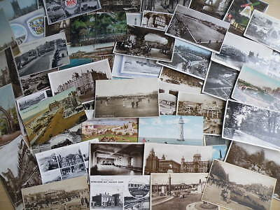 50 vintage POSTCARDS - various locations in and around LANCASHIRE