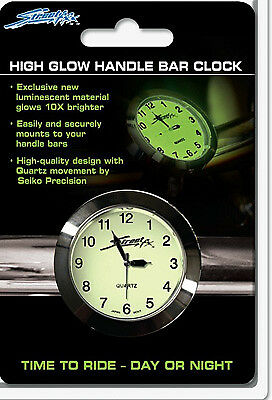 Street FX 1045902 Handlebar Clock Chrome