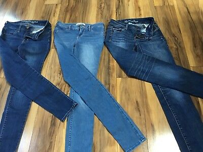3 pair of Juniors Jeans  LOT Size 00 Aeropostale/American Eagle, hollister