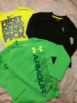 Boys Lot Of 3 Under Armour, Polo, Nike Tops Size 5
