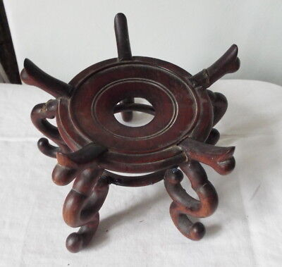 Antique Chinese Hardwood Stand For Vase 19Th Century