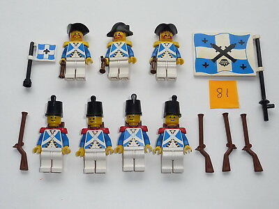 Lego, Minifig item 81, Imperial Soldiers, Lieutenant and Officers with guns