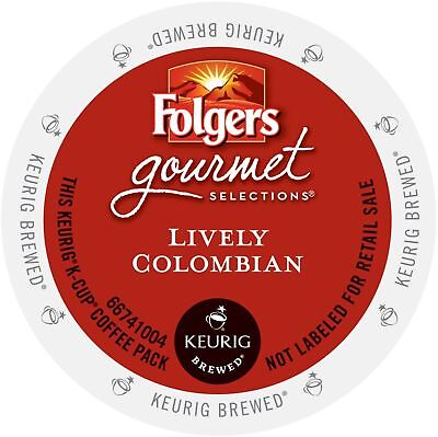 72 K-Cups! - Folgers Coffee, Lively Colombian - Keurig Lot