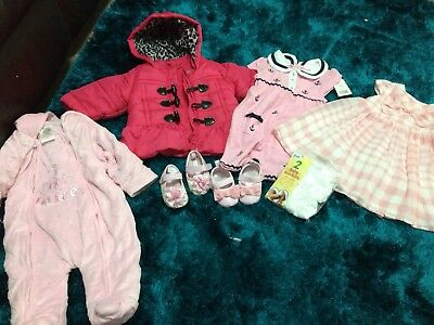 Bundle Baby Girls Clothes And Shoes